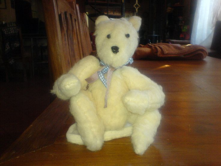 Hand crafted teddy bear..Little old Harvey