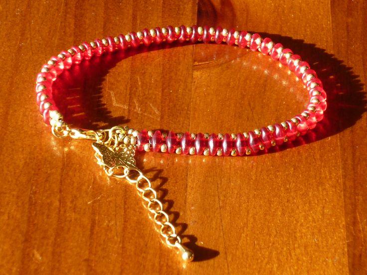Bracelet  rouge et or