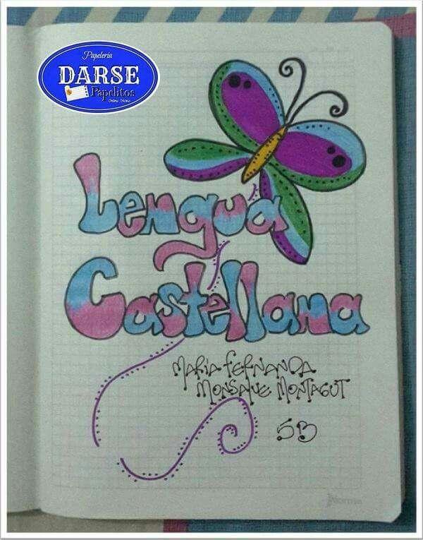 Portada Cuaderno, Portadas De Cuadernos, Cuadernos Decorados, Marcado De Cuadernos, Letras Para Marcar Cuadernos, Decoracion De Cuadernos Ideas,