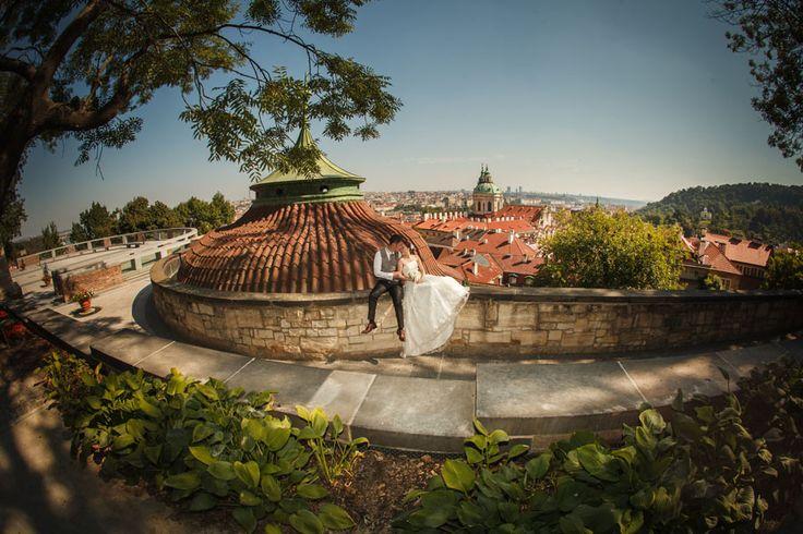 Pre Wedding Best of in Prague: a garden portrait at Prague Castle: http://pragueweddingphotography.com