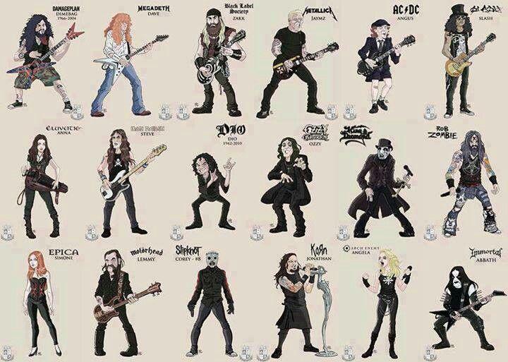Metalheads #caricatures #guitars m/