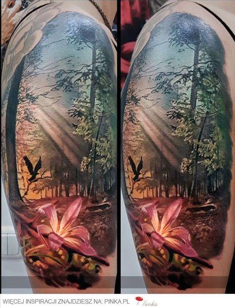 Znalezione obrazy dla zapytania tatuaz realistyczny