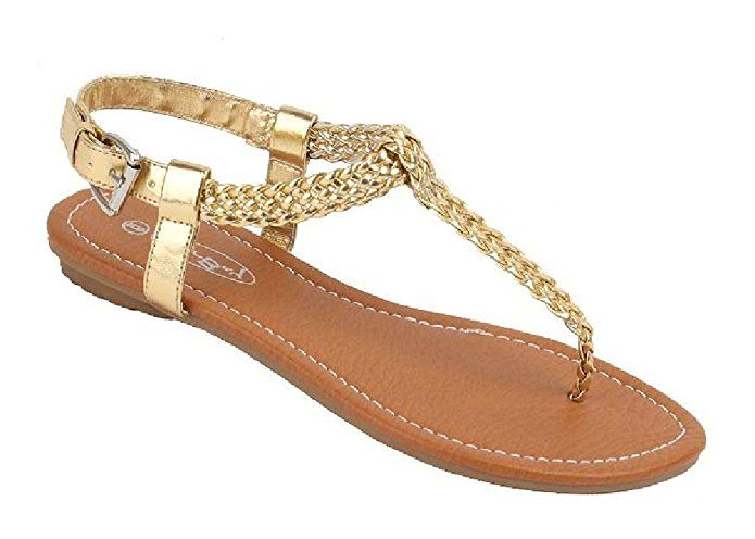 05aeaf88f Womens Roman Gladiator Sandals Flats Thongs W Buckle (9