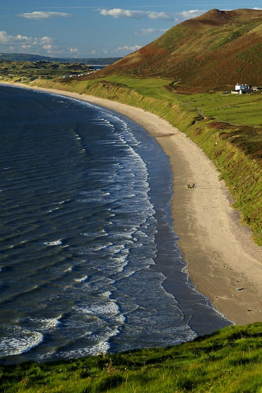 evysinspirations: (via Windswept Curves, a photo from Swansea, Wales | TrekEarth)   Rhossili, Wales, UK