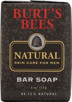 Burt's Bees Natural Skin Care for Men Bar Soap - 4oz. Get an intense clean with this energizing soap that cleans away dirt and odor, leaving skin refreshed. Lemon, Orange, and Petitgrain Oils clean skin while Rosemary extract and Fir Oil revive and invigorate for skin that looks, feel and smells it's natural best. Free of animal testing. http://www.vitacost.com/burts-bees-natural-skin-care-for-men-bar-soap-4-oz-1