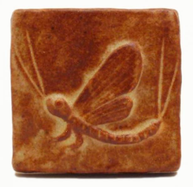 "Mayfly 2""x2"" Ceramic Handmade Tile | Arts and Crafts | Designer"