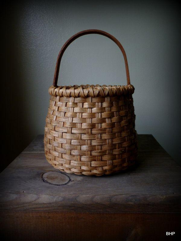 Wood Basket Weaving Supplies : Small round basket decorating crafts