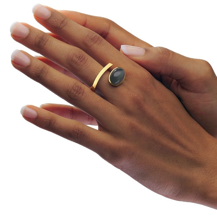 www.ORRO.co.uk - Angela Hubel - Gold Moonstone Laguna Ring - ORRO Contemporary Jewellery Glasgow