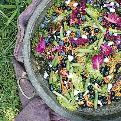 Blueberry-Kale Grain Salad Recipe - Fresh Blueberry Recipes - Southern Living