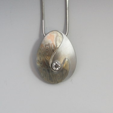 212 best mokume gane images on pinterest damascus steel jewels mokume gane gold and diamond pendant aloadofball Gallery