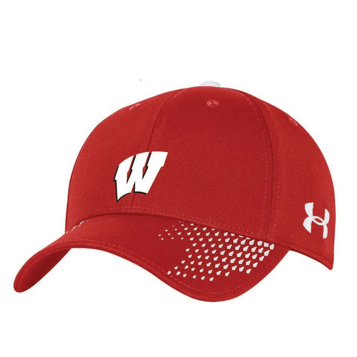 Wisconsin Badgers Under Armour Team Logo Sideline Renegade Accent Adjustable Hat - Red