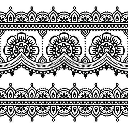 Mehndi, Indian Henna Tattoo-nahtloses Muster photo