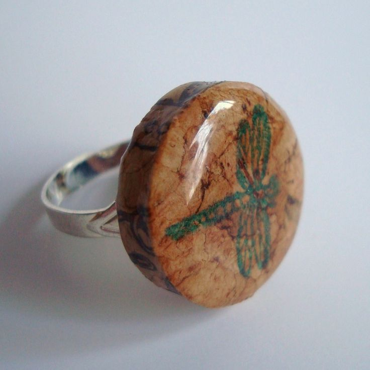 Dragonfly Wine Cork Ring