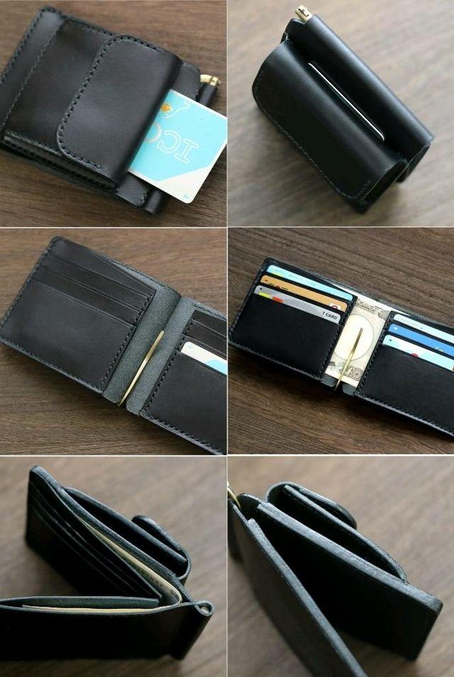 deee7ebdcc87 栃木レザーのコインケース付きマネークリップ。 | ハンドメイドマーケット