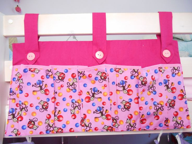 A personal favourite from my Etsy shop https://www.etsy.com/uk/listing/270785153/pink-bed-pockets-tidy-girls-room-bunk