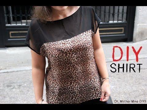 DIY Cómo hacer blusa estampada de leopardo (patrones blusa gratis) | Aprender manualidades es facilisimo.com
