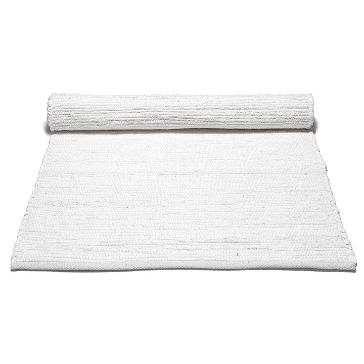 Cotton Rug 60x90, White £20. - RoyalDesign.co.uk
