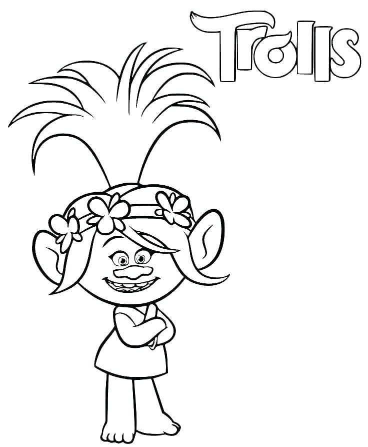 Poppy Coloring Pages Poppy Coloring Page Cartoon Coloring Pages