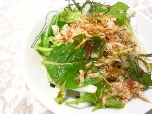 ベビーリーフと大根のサラダ