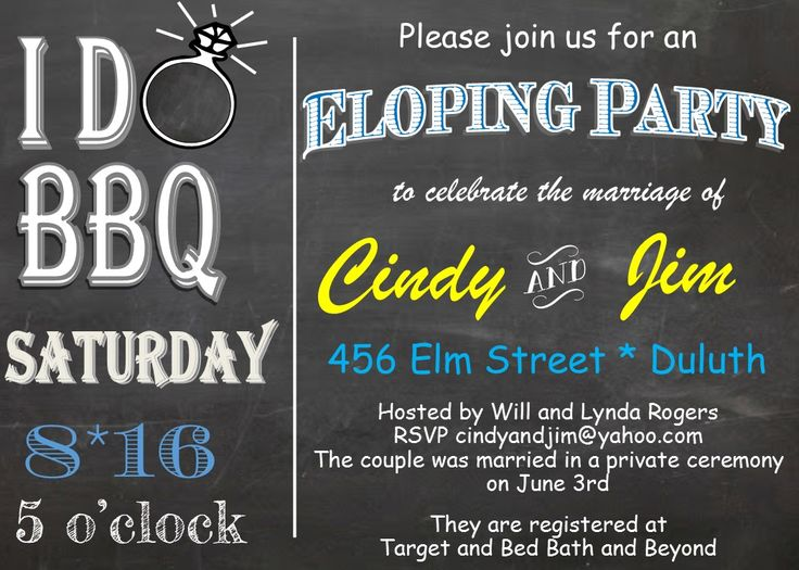 Elopement Wedding Invitations: 70 Best Images About Eloping Party Invitations (invite