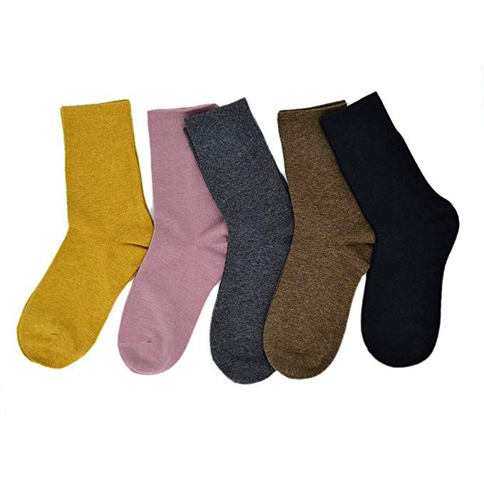 Thin Cotton Socks Women's Casual Lightweight High Ankle Socks Crew Women  3-5 Pairs (Size 5-9, 5 Pairs-2) at Amazon Women's… | Socks women, Cotton  socks, Ankle socks