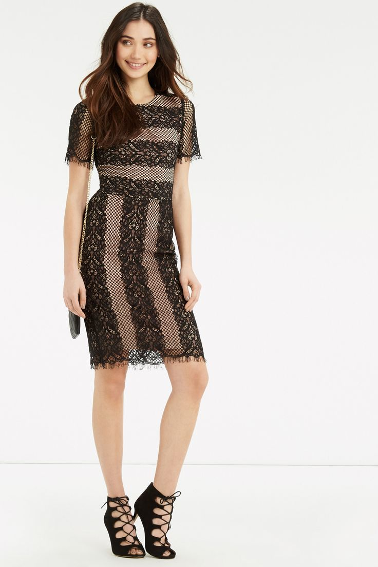 Stripe Lace Dress. Was £68, NOW £35 - http://www.oasis-stores.com///oasis/fcp-product/5713858