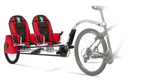 Weehoo iGo 2 Passenger Bike Trailer-Cycle now this would be cool for the boys