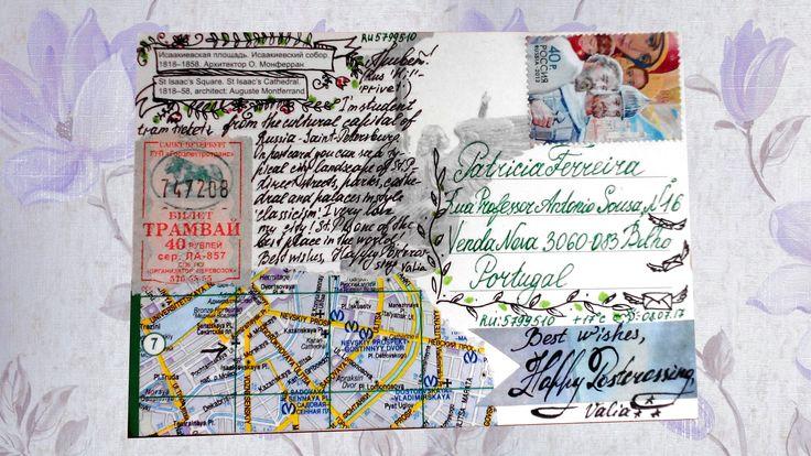 Как оформлять почтовую открытку