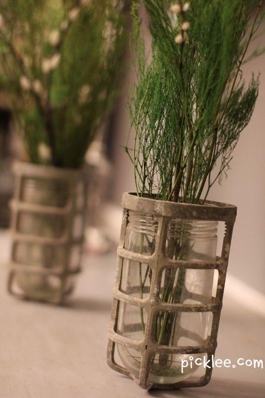 Vases for Lights, and Lights for Vases!Lights Fixtures, Diy Crafts, Industrial Lights, Lights Turn, Picklee, Dock Jars Vases 1, Jar Lights, Industrial Vases, Jars Lights