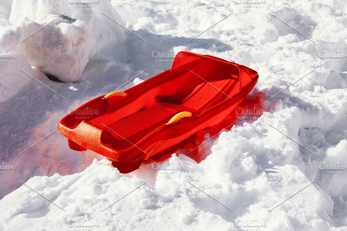 Snow sled by OSORIOartist on @creativemarket