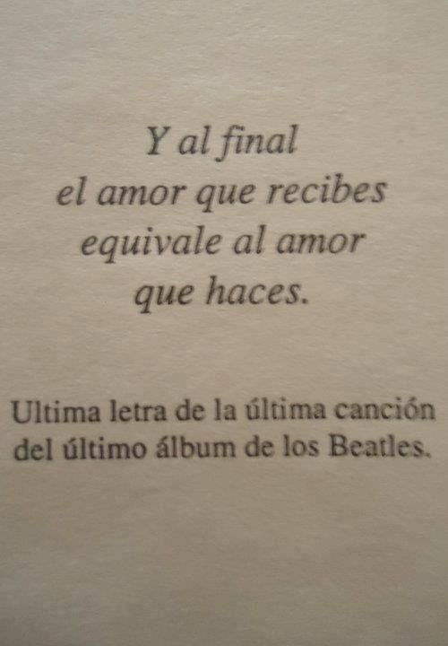 y al final el amor que recibes...