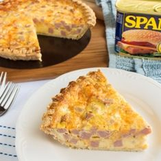 Spam Quiche Spam quiche - a simple quiche recipe with Hawaii's favorite meat...Spam!  Perfect for breakfast, lunch, brunch..or whatever!