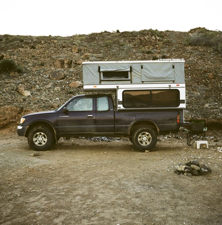 Toyota Tacoma With A Four Wheel Camper Eagle With Images