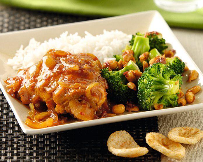 Kip met broccoli en witte rijst recept