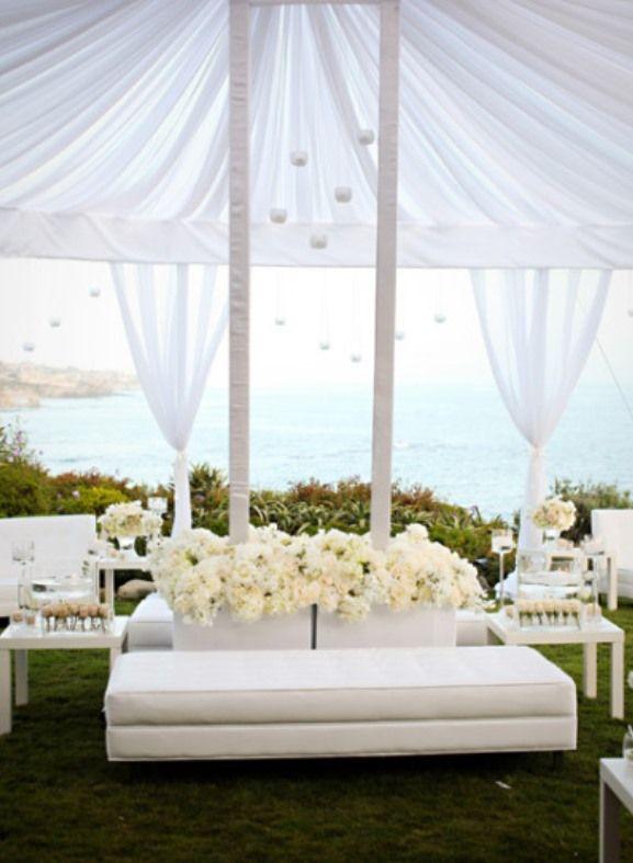 Stylish Beach Weddings Romantique White Wedding Dream Pinterest And Lounge