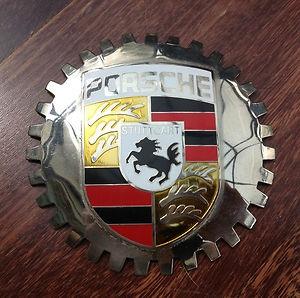 Vintage Porsche Decklid Grille Badge Stuttgart 356 356a