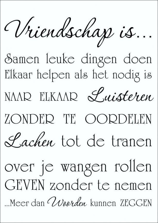 Muursticker Vriendschap is... Woordsticker