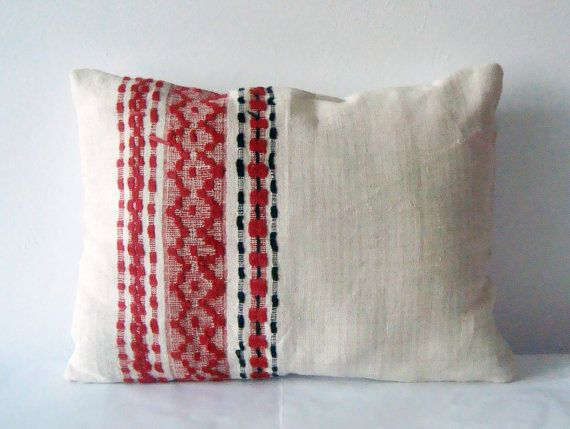 Vintage Traditional Romanian Hand Woven Rustic by folklorelove