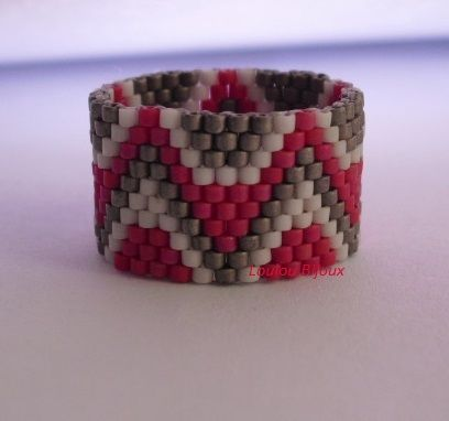 Anel Indian red - miyuki delicas