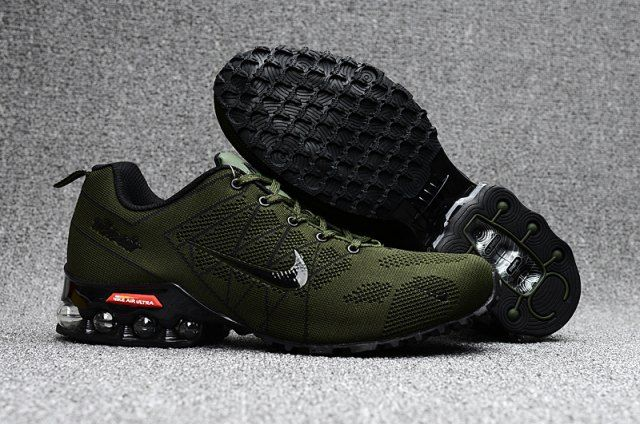ec7f69f26a6b Nike Air Ultra Max 2018. 5 Shox Olive Green Black Mens Running Shoes ...