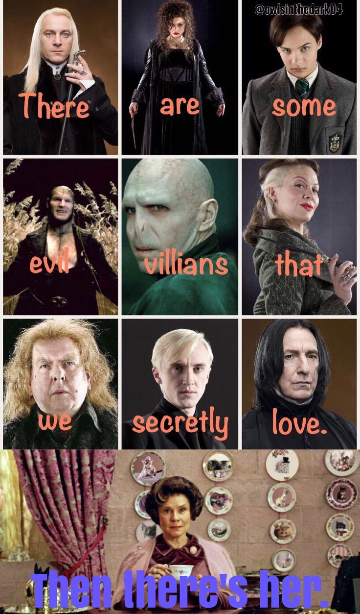 Are we going to comment that in someway, they end up being related to Draco. I mean, Snapes his godfather.