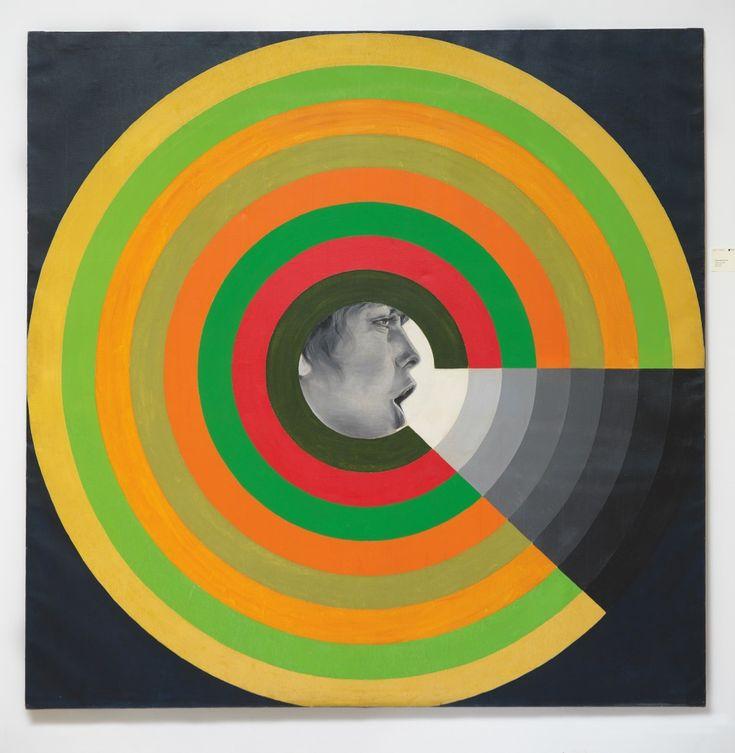 """""""Le Mur du son"""" 1966, pop art by Evelyne Axell"""