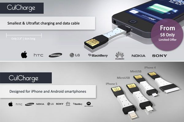 CulCharge- the smallest charging and data cable ever.