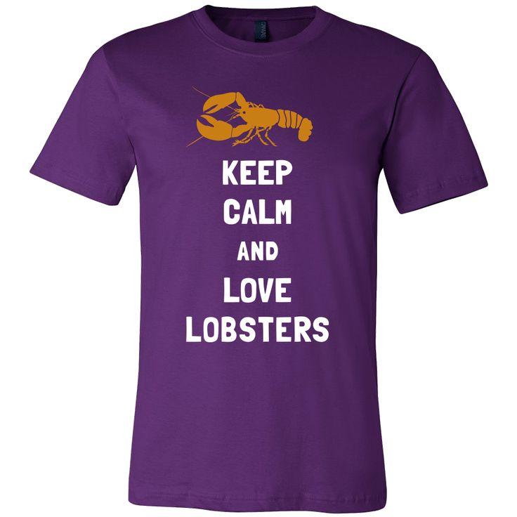 Lobster Shirt - Keep Calm - Animal Lover Gift