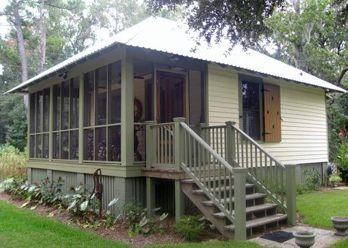 1000 images about house on the bayou on pinterest for Tiny house plans with screened porch