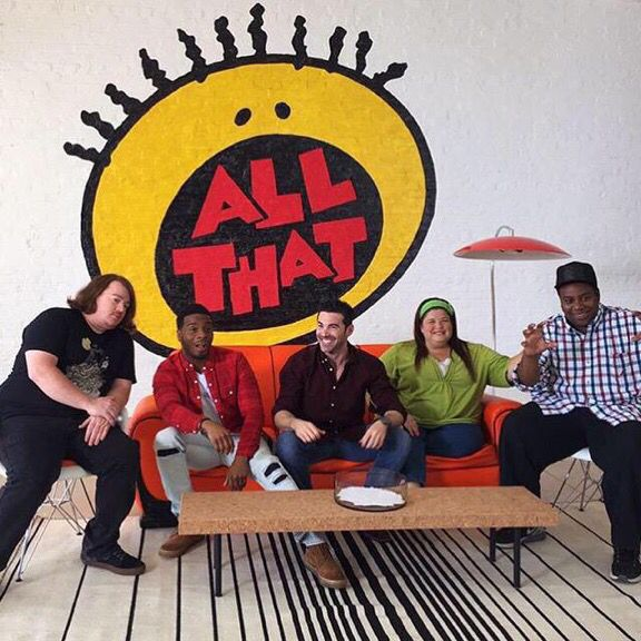 Danny Tamberelli, Kel Mitchell, Josh Server, Lori Beth Denberg, and Kenan Thompson of ALL THAT!