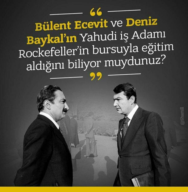 """""""David Rockefeller"""" - Bülent ecevit Deniz Baykal"""