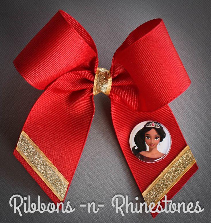 Princess Elena Bow, Princess Elena Boutique Bow, Disney's Elena Bow, Princess Elena of Avalor Bow, Elena Costume Bow, Elena Birthday by RnRshairbowsandmore on Etsy https://www.etsy.com/listing/454062088/princess-elena-bow-princess-elena