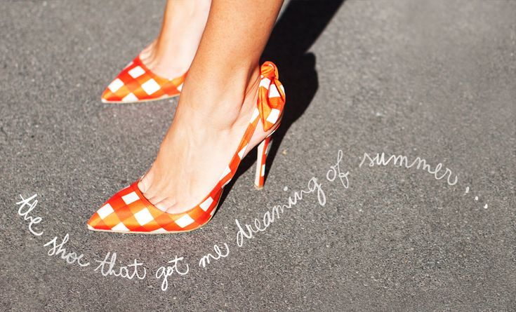 I want summer to get here pronto, and I want to wear these shoes.
