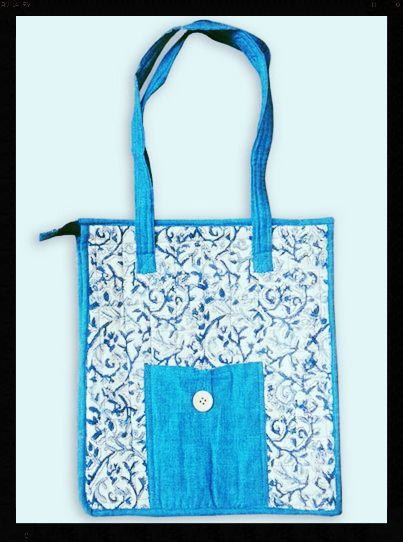 Handmade tote bag which gives you a casual feel It solves the purpose of being handy and being eco-friendly.